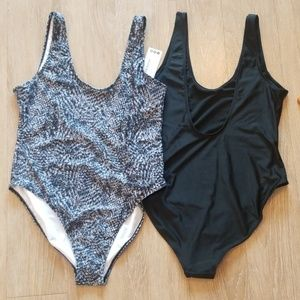 BOOHOO double pack one piece swimsuit